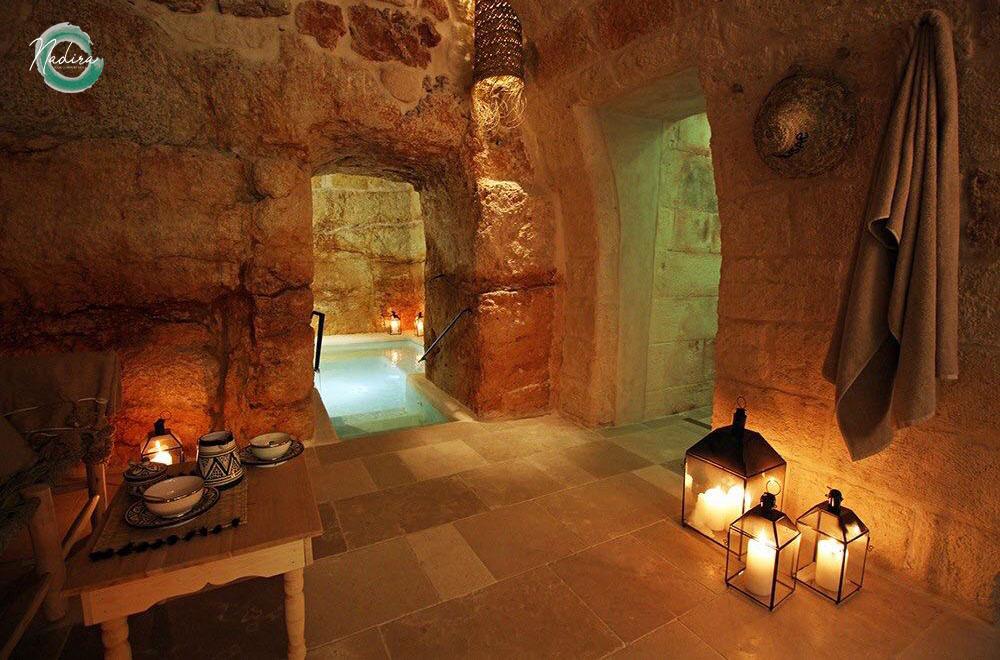 An old well transformed into a splendid wellness center